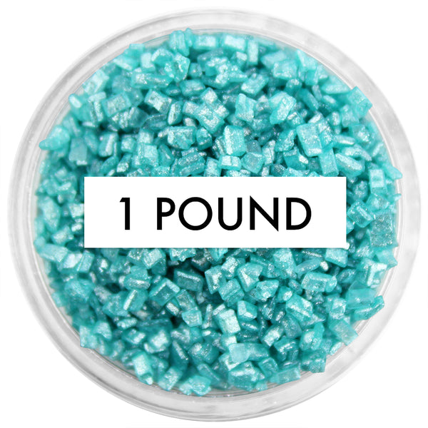 Pearly Turquoise Chunky Sugar 1 LB