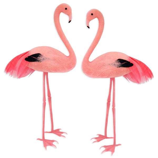 Feathery Pink Flamingo Cake Topper