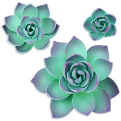Purple Gum Paste Succulents