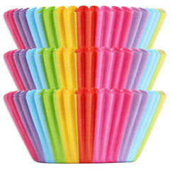 Rainbow Stripe Baking Cups