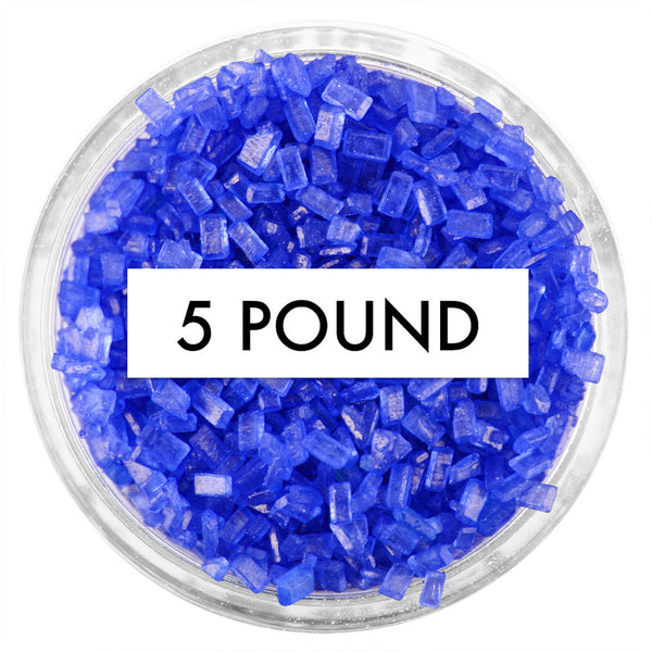 Royal Blue Chunky Sugar 5 LB