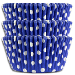 Royal Blue Polka Dot Baking Cups
