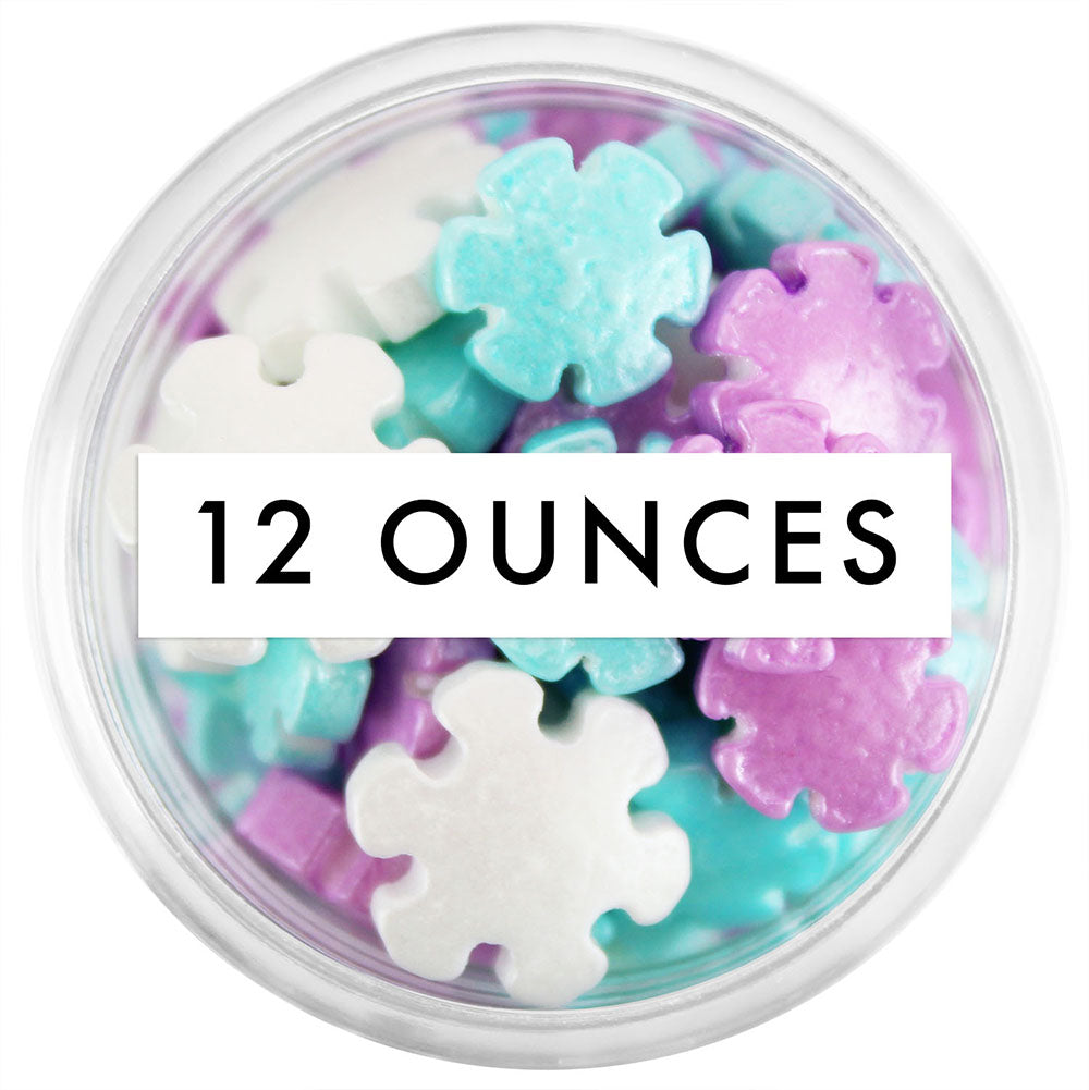 Shimmery Snowflake Candy Sprinkles 12 OZ