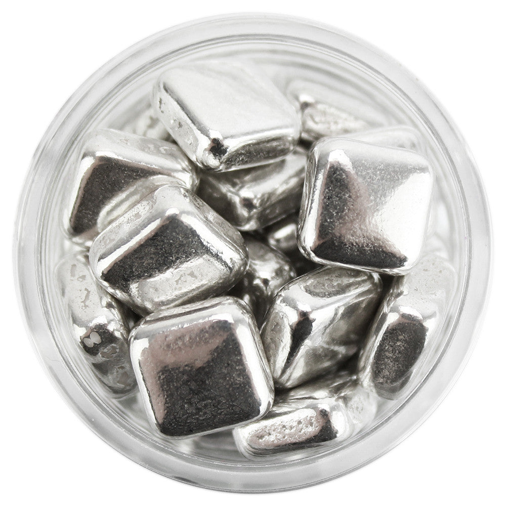 Silver Square Dragees