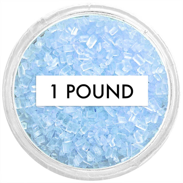 Soft Blue Chunky Sugar 1 LB