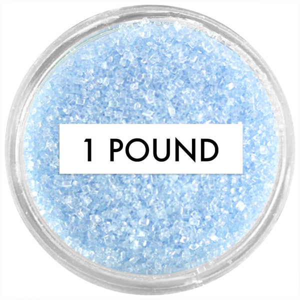 Soft Blue Sanding Sugar 1 LB