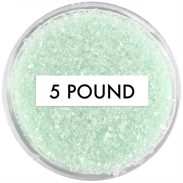 Soft Green Sanding Sugar 5 LB