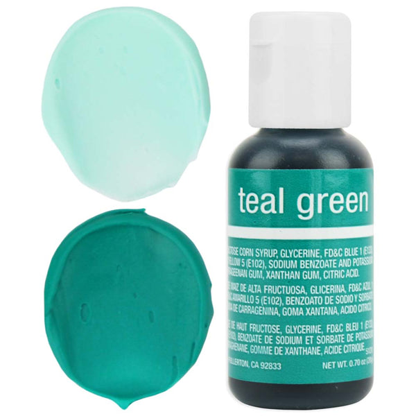 Teal Green Chefmaster Gel Food Coloring
