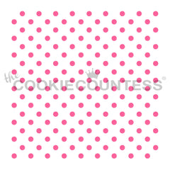 Tiny Polka Dots Cake & Cookie Stencil