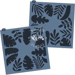 Tropical Leaf Cake & Cookie Stencil - 2 Stencils