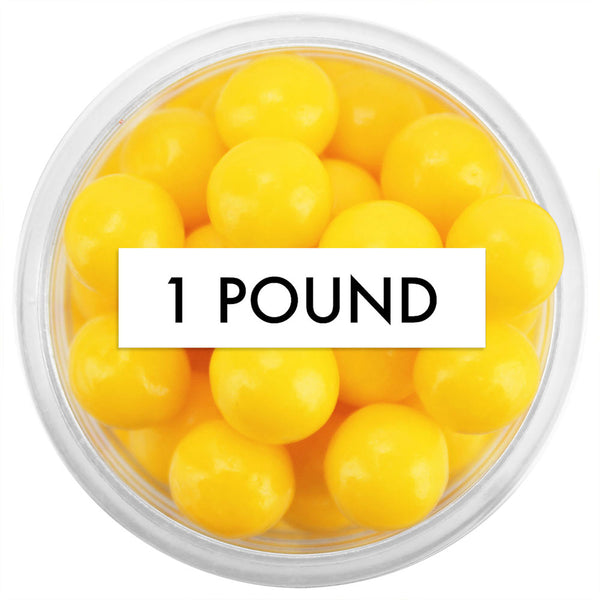 Yellow Sugar Pearls 8MM 1 LB