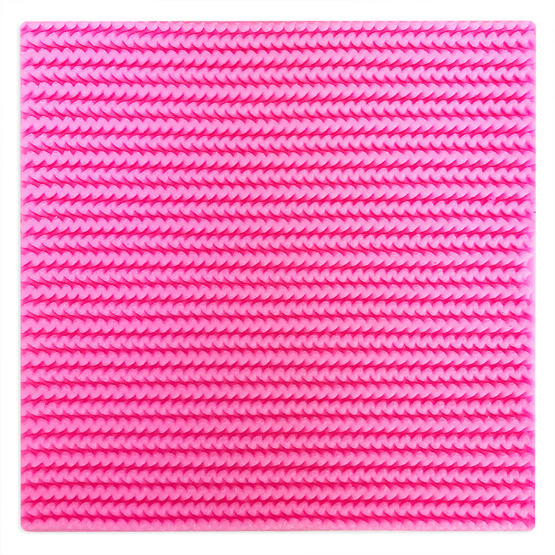 Zig Zag Knit Pattern Silicone Texture Mat