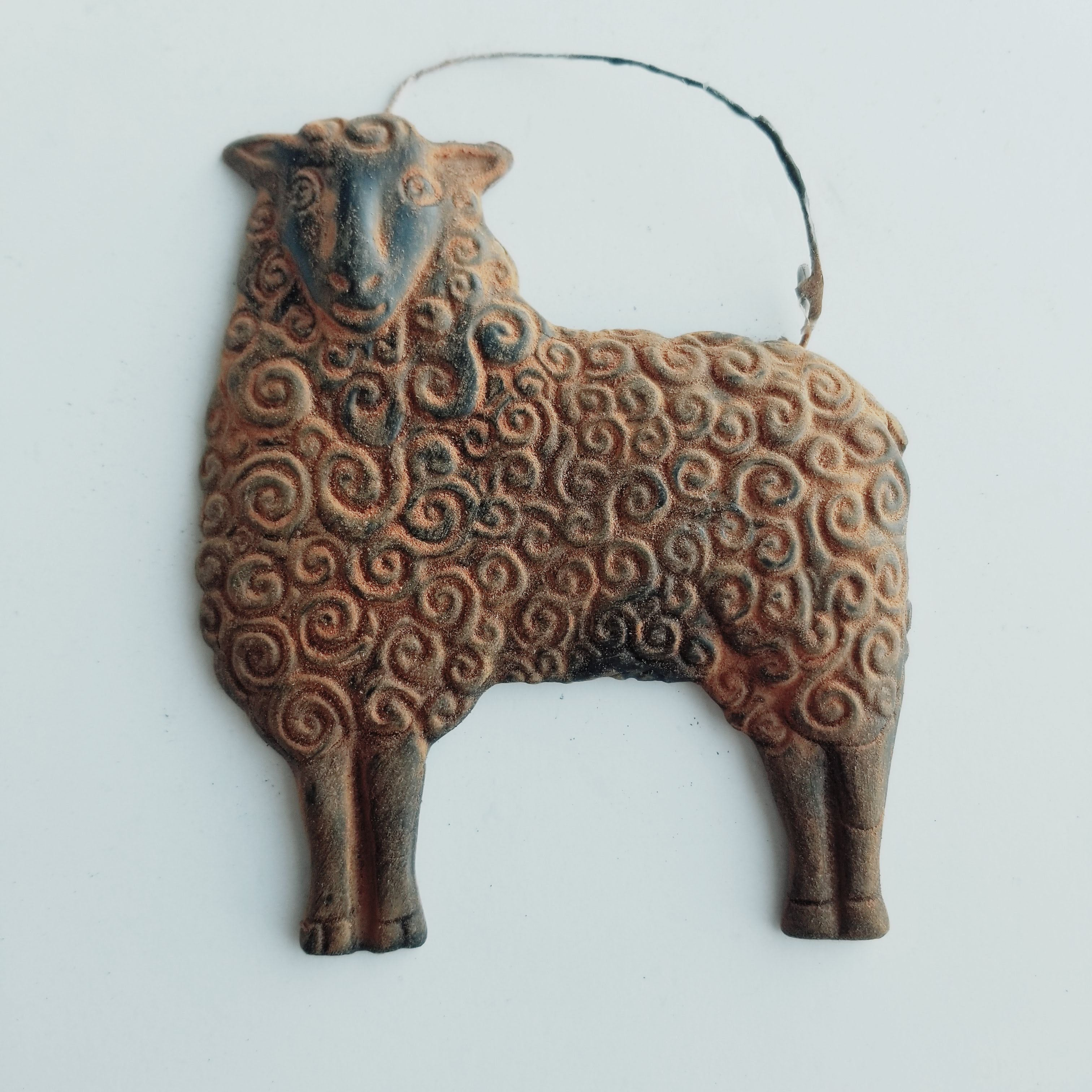 The Lost Sheep- Antiqued Cinnamon Beeswax Ornament