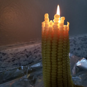 Corn Cob Beeswax Candle