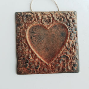 Floral Heart Photo Frame Ornament