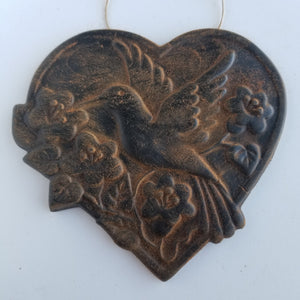 Hummingbird Beeswax Ornament - Antiqued Cinnamon