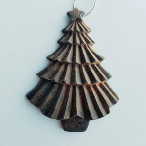 Perfectly Perfect ChristmasTree- Antiqued Cinnamon Beeswax Ornament