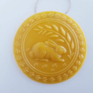 The Wheat and The Hare Ornament - Yellow Beeswax