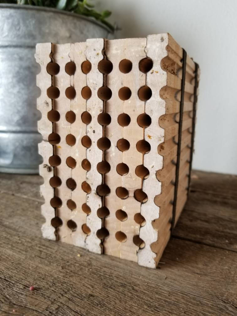 SOLD OUT for 2020-- Mason Bee Habitat Boards- SEASONED