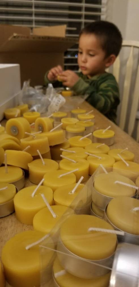 12 pack Beeswax Tea Light Candles