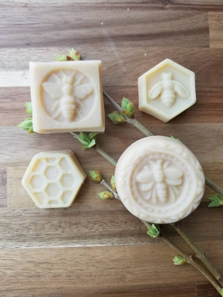 Beeswax and honey cold process soap