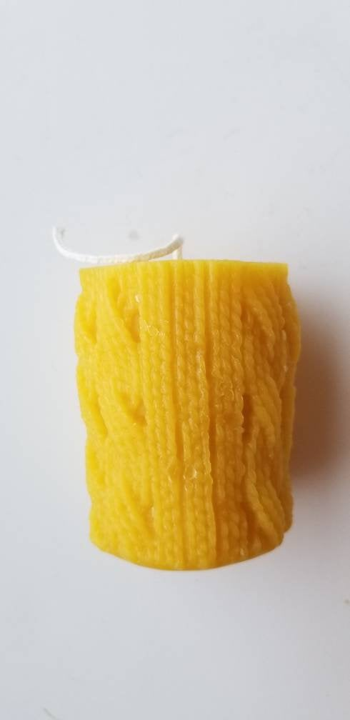 Knit Sweater Beeswax Candle