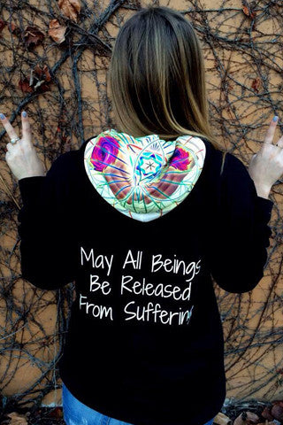 1. May All Beings Be Released From Suffering Sweatshirt Black