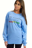 May All Beings Be Enlightened Long Sleeved Blue