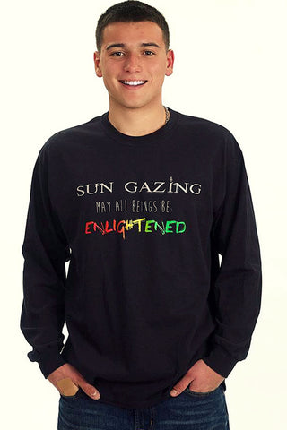 May All Beings Be Enlightened Long Sleeved Black