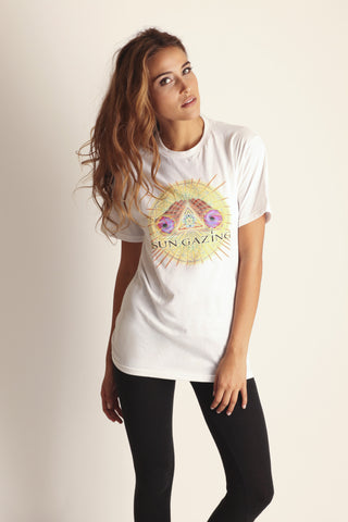 1. May All Beings Be Released From Suffering Tee - White