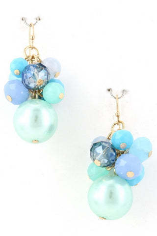 Ombre' Blue Clusters Earring