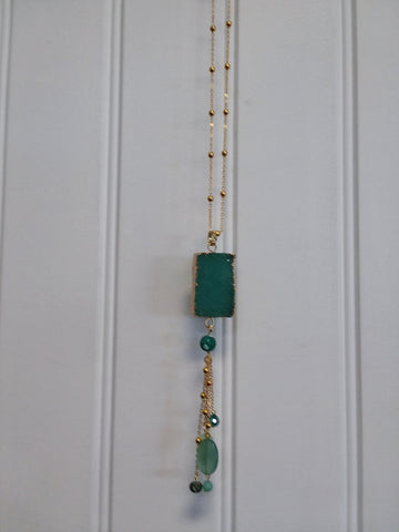 Jade Druzy Necklace
