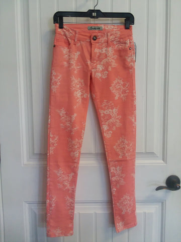 Peach Floral Skinnies Size 24