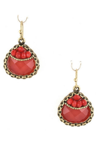 Well Red Tutor Tears Earring
