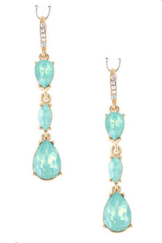 Lacey Mint Teardrop Earring