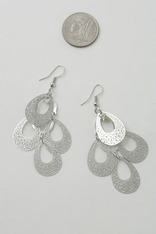 Paisley Dainty Silver Earrings