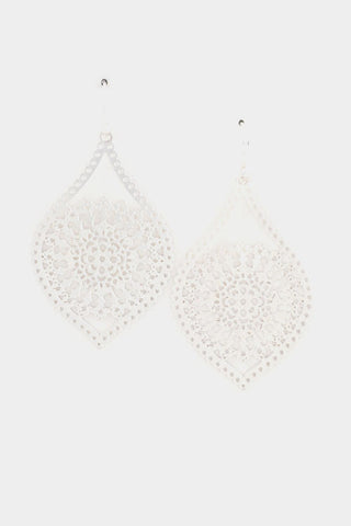 Lily Lace Silver Earrings