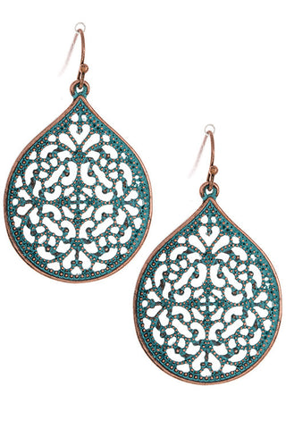 Teal Moroccan Earrings