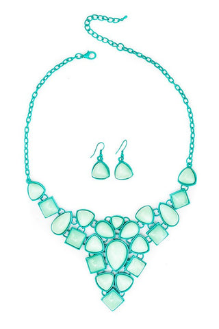 Jelly Mint Necklace Set