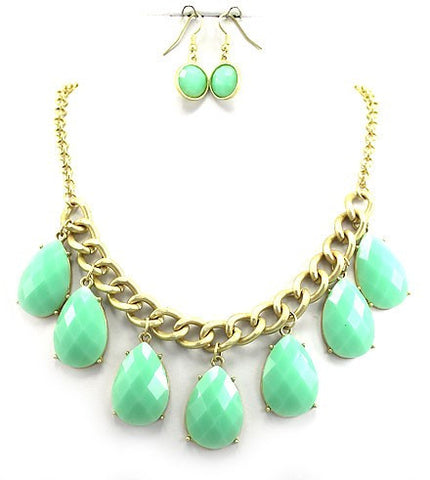 Rebecca Mint Necklace Set