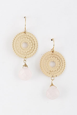 Megera in Light Pink Earrings