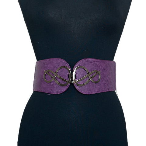 Double Infinity Belt Plum
