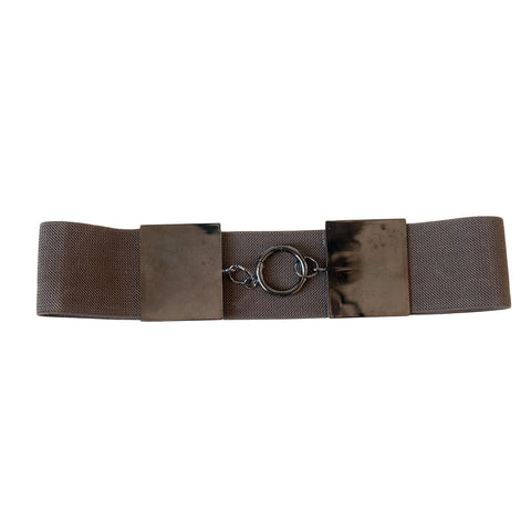 Square Block Mocha Belt