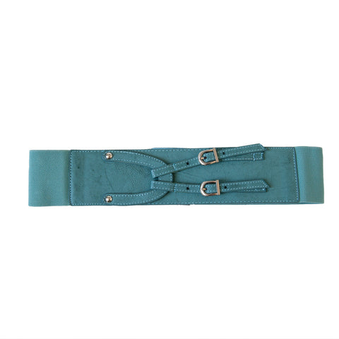 Dusty Blue Criss Cross Belt