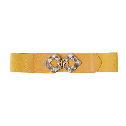 Mustard Two Diamond Belt