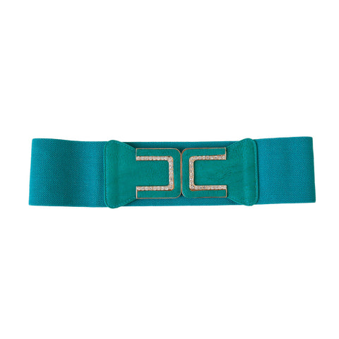 Diamond Horse Shoe Belt Emerald