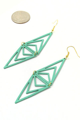 Mint Abstract Earrings