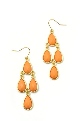 Carolyn Coral Earrings