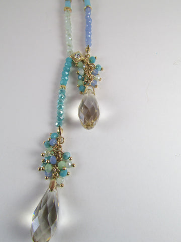 Long Precious Blue Necklace