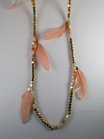 Feathers and Squares Necklace